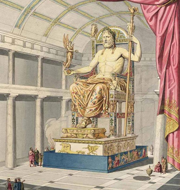 Statue of Zeus in Olympia, Greece